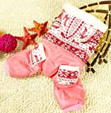 Pet Cat Dog Coat Soft Cotton Jumpsuit Hoodie Hooded Snowflakes Small Dog Clothes Sweaters Pink S
