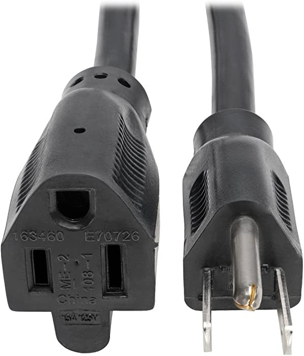 Tripp Lite Power Cord Extension Cable, Heavy Duty, 14AWG, 5-15P to 5-15R, 15A, 25' (P024-025)