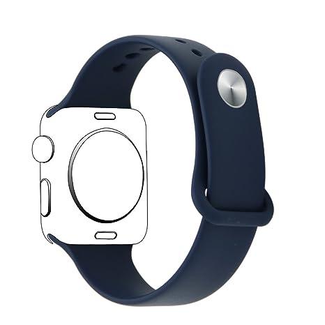 XIHAMA Correa Compatible con Apple Watch Serie 5 4 3 2 1, Correas de Recambio Suave Silicona Bracelet para iWatch 42mm / 44mm / 40mm / 38mm (38/40mm, ...