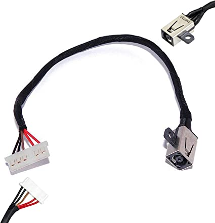 AC DC Power Jack Cable Connector Plug Replacement For Dell Inspiron 15-3558 15-3551 15-3552 i3558-9136 Ryx4j Compatible With 450.030060001