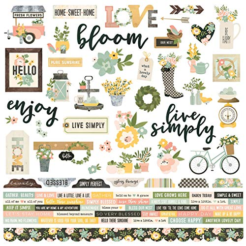 Spring Farmhouse Combo Stickers - Simple Stories - Story Farmhouse
