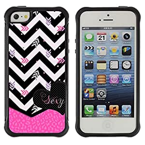SHIMIN CAO@ Chevron Black White Zebra Pink Heart Rugged Hybrid Armor Slim Protection Case Cover Shell For iphone 5S CASE Cover ,iphone 5 5S case,iphone5S plus cover ,Cases for iphone 5 5S
