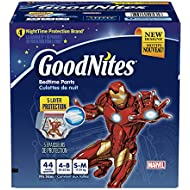 GoodNites Bedtime Pants for Boys, Size Small/Medium,...