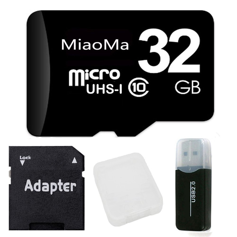 MiaoMa 32GB micro memory card Class 10 UHS-I 95MB/s with Card Reader for Phones,Camera,Car DVR,MAC,mp3 player,Tablets and PCs