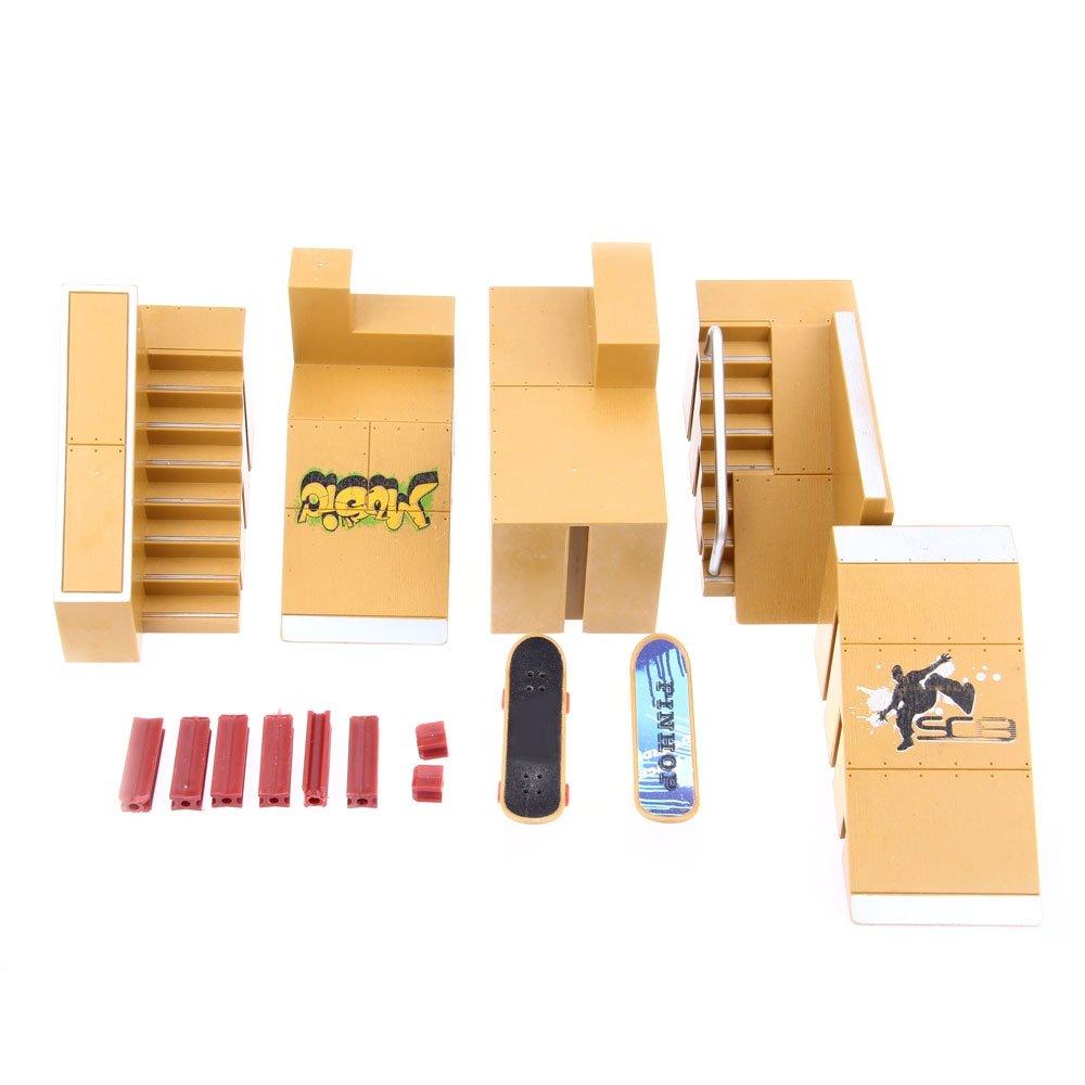 Robolife Skate Park Kit Ramp Parts for Fingerboard Ultimate Sport Training Props-5pcs by Robolife (Image #5)