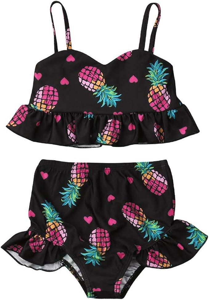 Amazon.com: Bañador para bebés y niñas, 2 piezas, bikini ...