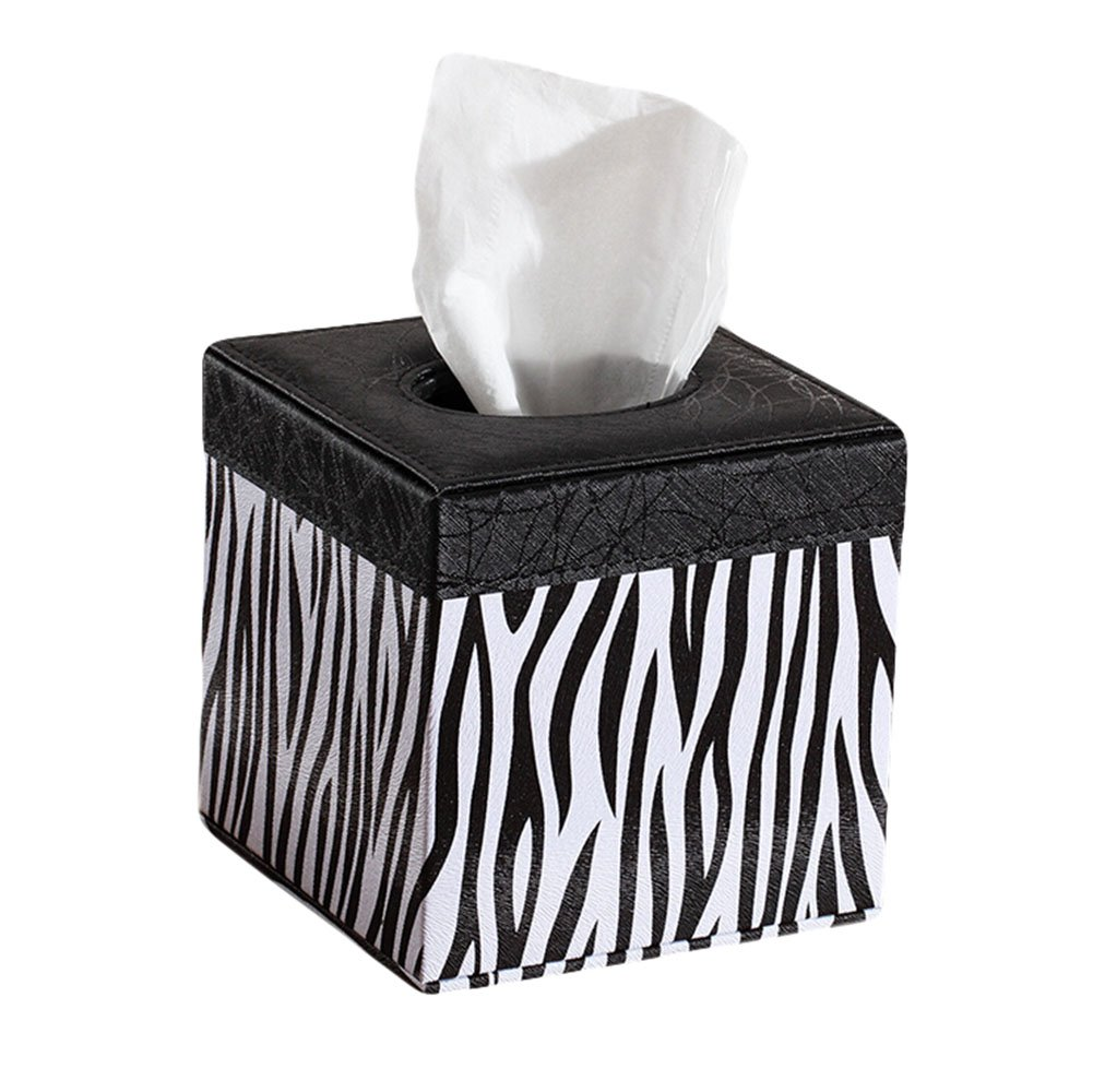 JUNGEN Leather Tissue Box in Cube Shape for Home and Office 14*13.5*13.5cm