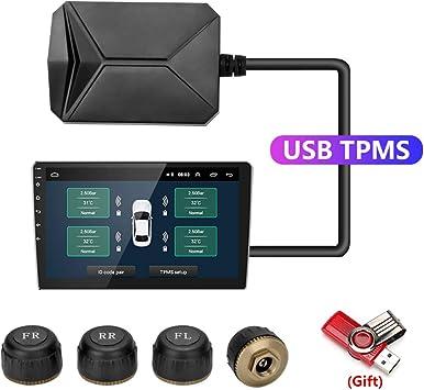 USB TPMS Auto Sistema Monitoraggio Pressione Pneumatici per Android Navigazione