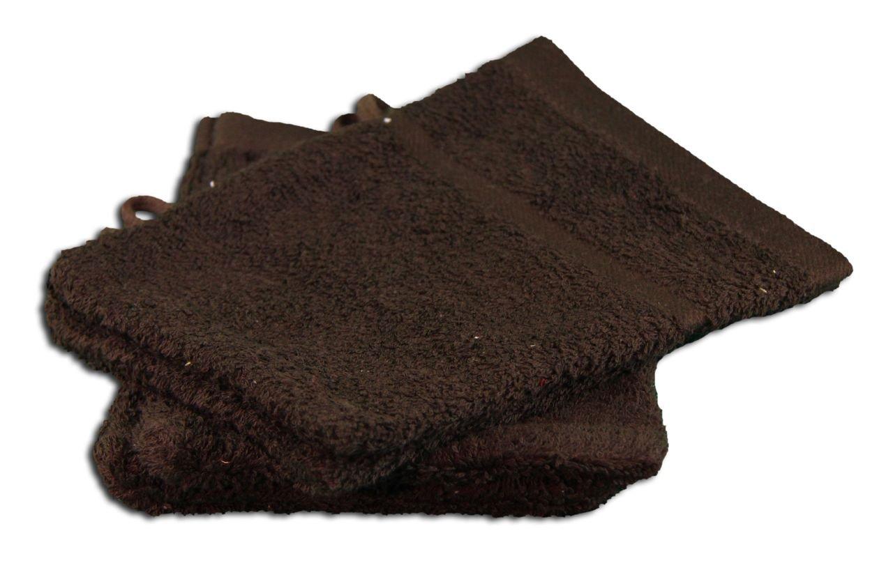 Gözze Waschhandschuh 4er-Set, 100% Baumwolle, 16 x 21 cm, Sylt, Gold, 7881-11-A1