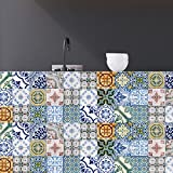 nice kitchen wood tile RoyalWallSkins Tile Decals 4x4 Inch - Set of 16 - Self Adhesive Peel and Stick Tile Stickers for Kitchen Backsplash Bathroom Vinyl Waterproof (Evora TAD170201)