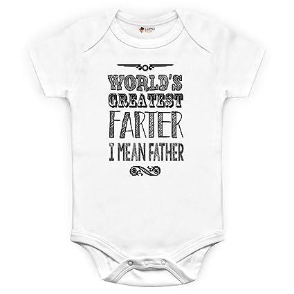 Divertido del mundo más grande Farter regalo del día del padre regalo de cumpleaños Mono Babygrow