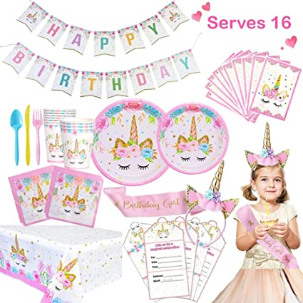 Unicorn Party Supplies Set