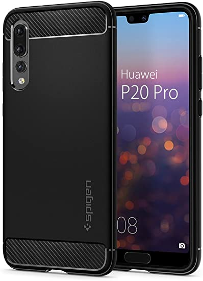 Spigen Rugged Armor Works with Huawei P20 Pro Case (2018) - Black