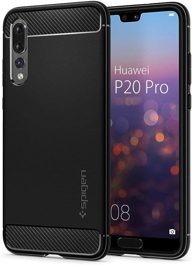 Spigen Coque Huawei P20 Pro [Rugged Armor] Resistant, Antichoc, Fibre de Carbone, Coque Etui Housse Compatible avec Huawei P20 Pro - Noir