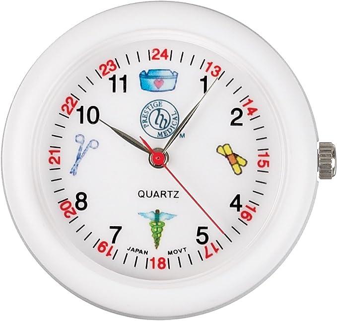 Amazon.com: Prestige Medical Analog Stethoscope Watch with Medical Symbols, White: Health & Personal Care