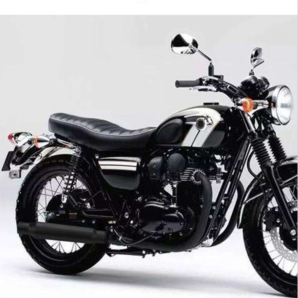 Bobber Custom JFG RACING Universal Motorrad Endschalld/ämpfer Auspuff Rohr 3,8/cm OD Einlass 30,5/cm Shorty f/ür Harley Cafe Racer chrom