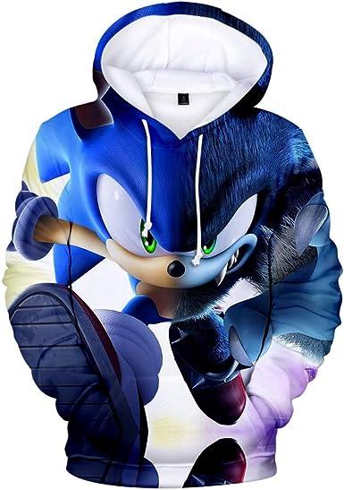 Amazon Com Unisex Hoodie 3d Sonic Hedgehog Printed Hooded Pullover Boys Girls Sweatshirt For Men Women Clothing