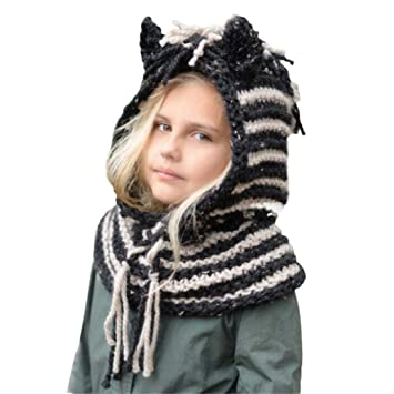 52f7ccd057a Amazon.com  Knitted Hood Scarf Beanies for Baby Boys Girls