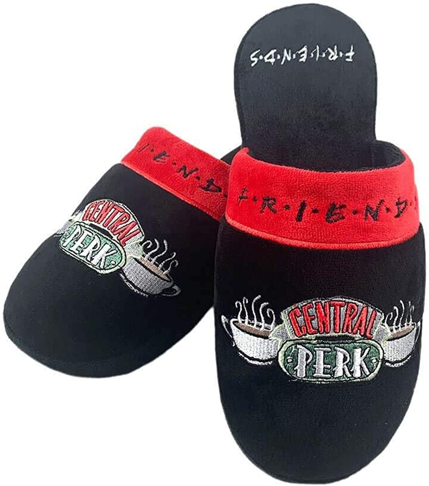FRIENDS Groovy Womens Television Series Official Central Perk Slippers UK Size 5-7