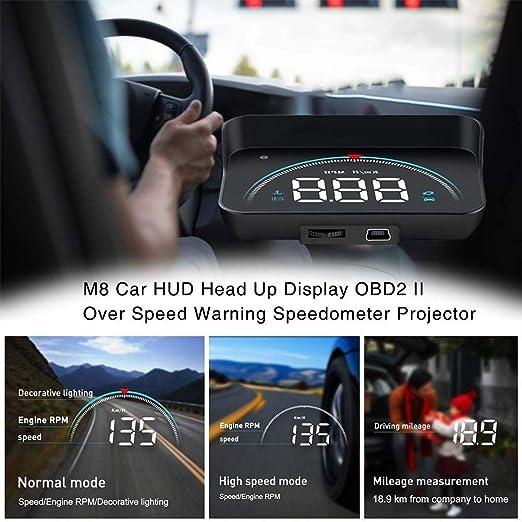whelsara M8 Proyector del Coche Universal Display Smart Car HUD ...