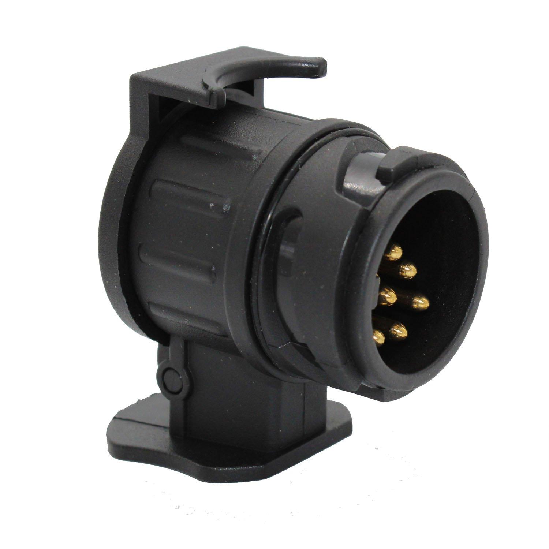 TAKPART 13 Pin to 7 Pin Plug Trailer Truck Adapter Adapter Converter Waterproof Towbar Towing Socket