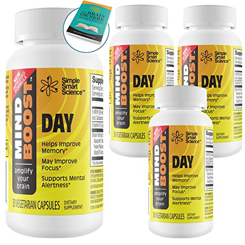 Boost Your Memory - Clinically Formulated Premium Supplement for Enhanced Memory, All-Day Focus & Energy. 100% Guaranteed Proprietary Formula Using Therapeutic Dosages That Support Clinical Trials. by Simple Smart Science