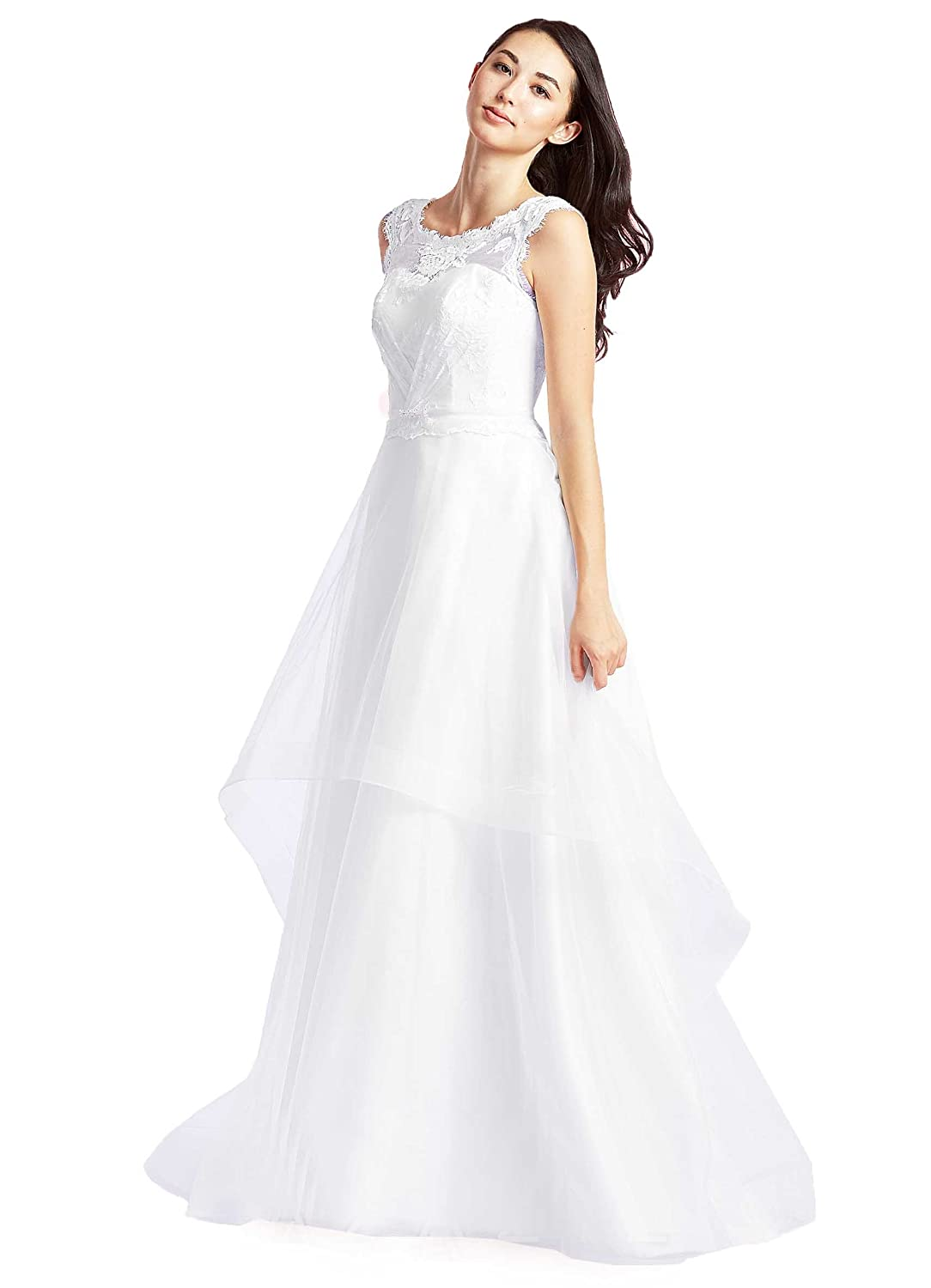 Amazon Onlybridal Womens Cheap Lace Top Gowns For Weddings