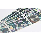 """Hologram 2"""" x 1"""" Silver Rectangle Scratch Off Stickers Label, Reflects multi colored in natural light, Perfect DIY,Pack of 100 My Scratch Offs"""