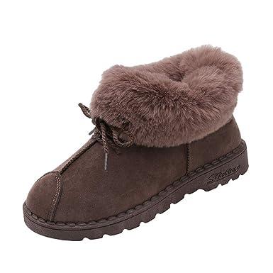 421af160f3f LuckyGirls Femme Bottes de Neige Hiver Chaudes Bottes Boots Fourrées  Cheville Chaussures  Amazon.fr  Vêtements et accessoires