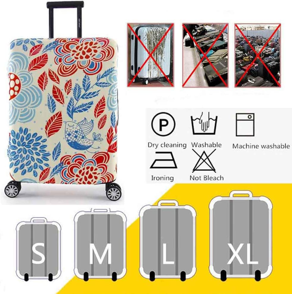 HBWZ Travel Luggage Cover Trolley Case Protective Cover Fits 19-32 Inch Luggage,D,M