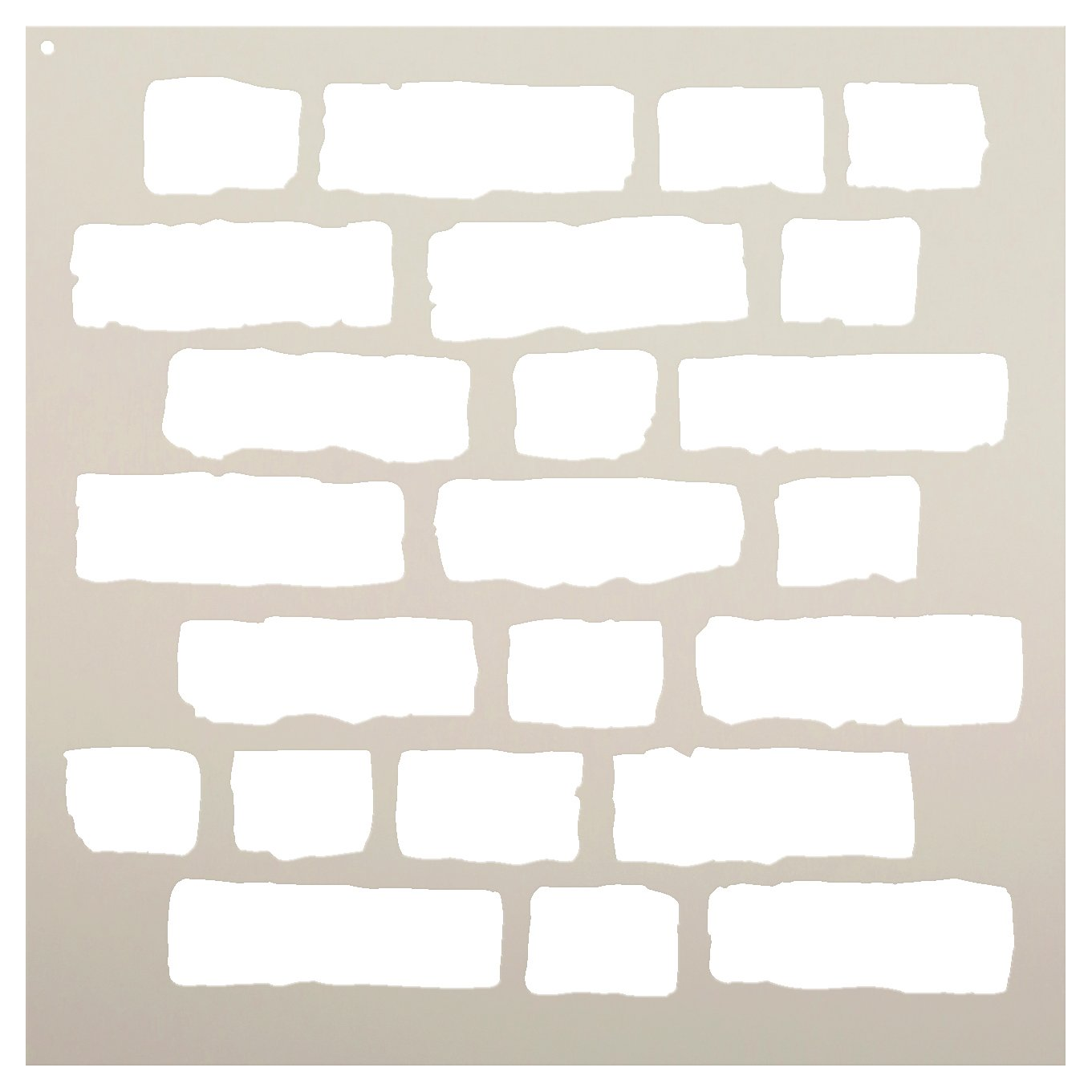 Rough Bricks Stencil by StudioR12 | Faux Finish Repeating Pattern Art - Reusable Mylar Template | Painting, Chalk, Mixed Media | Use for Crafting, DIY Home Decor - STCL703 CHOOSE SIZE (18'' x 18'')