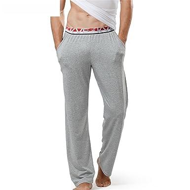 Jeff Tribble Plus Size Mens Sleep Bottoms Pajama Sleepwear Lounge Pants Sheer Trousers Gray S