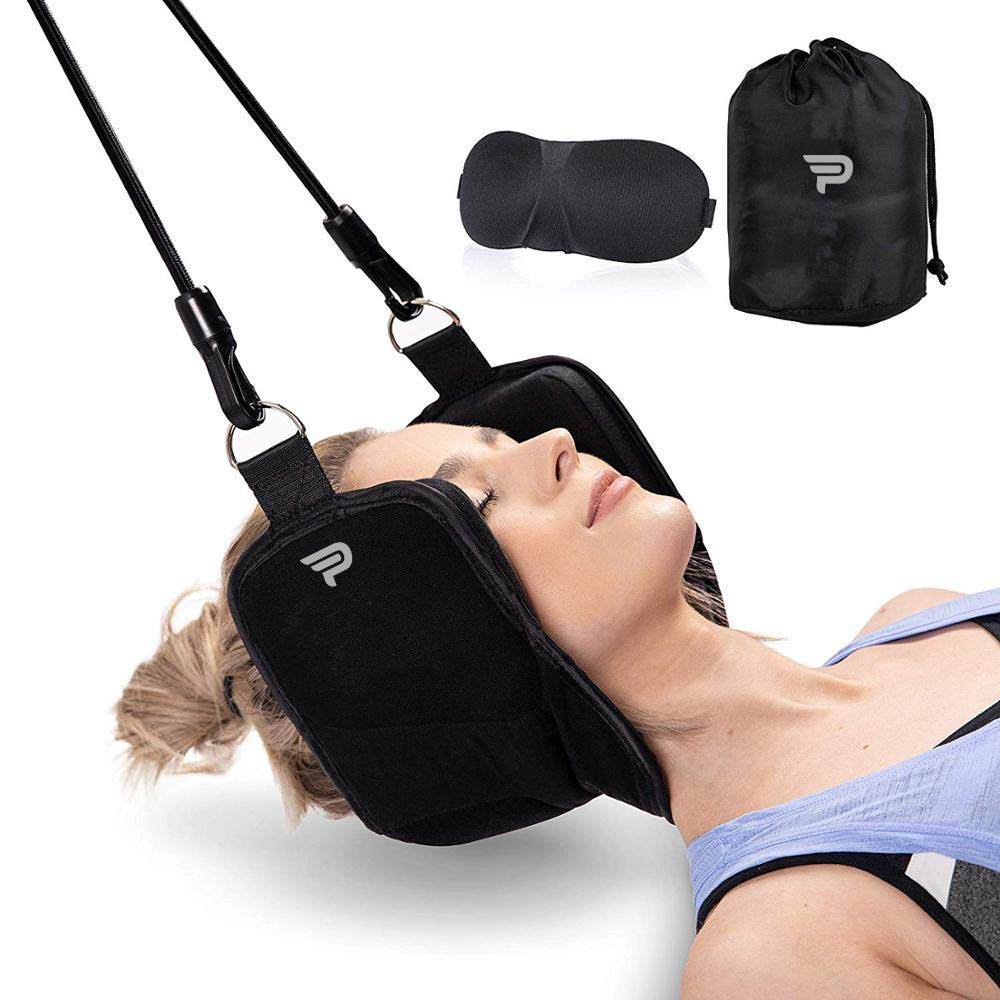 Neck/Head Hammock, Cervical Traction & Relaxation Sling, for Stress & Pain Relief - Portable Cervical Traction Set by PrimeTime Sports