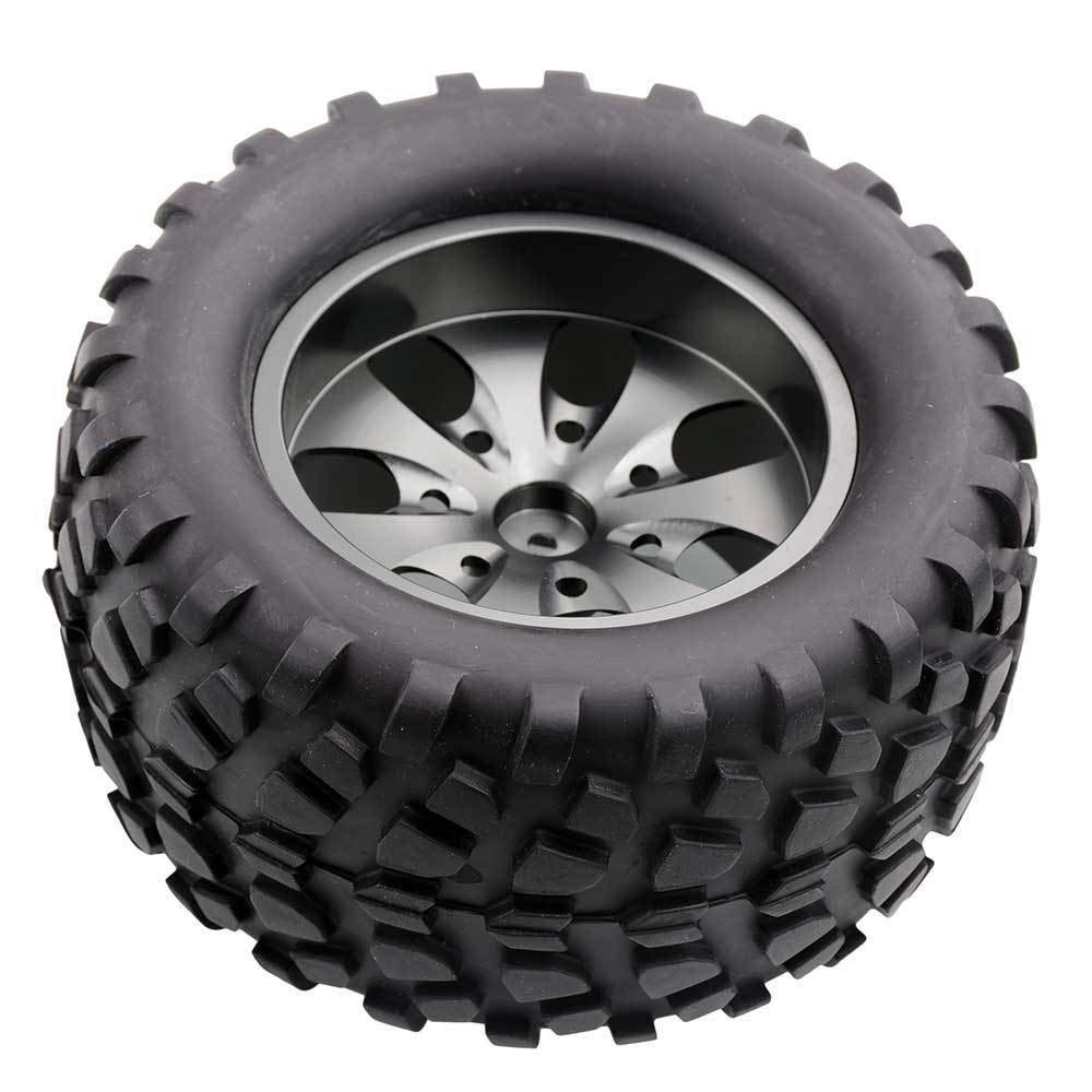 Toyoutdoorparts RC 08008N Alum Gray Wheel&08043 Tires for RedCat 1/10 Nitro Volcano S30 Truck by Toyoutdoorparts (Image #5)
