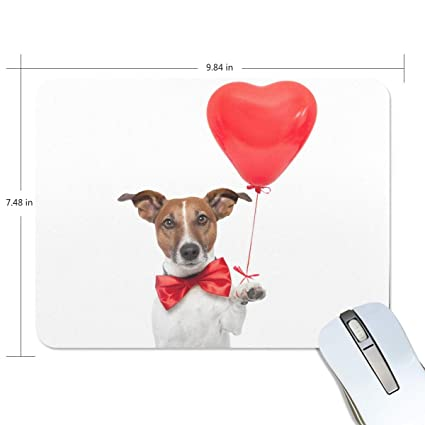 9a3b7aef0d5c Amazon.com : Mouse Pads, Dog with Ballon Premium Textured Mouse Mat ...