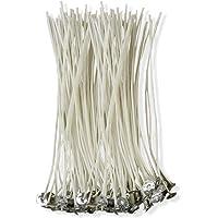 CZ Store®-Mèche bougie-✮✮GARANTIE A VIE✮✮- Mèche pour bougie 15 CM   LOT DE 100 PIECES  Meche bougie naturelle en coton 100% écologique-✮PDF OFFERT: guide de fabrication de bougie parfumée✮ -meche bougie bio pour bougie pillier/lampions/lanternes