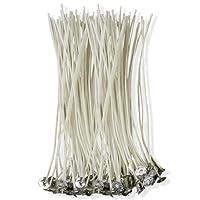 CZ Store®-Mèche bougie-✮✮GARANTIE A VIE✮✮- Mèche pour bougie 15 CM | LOT DE 100 PIECES| Meche bougie naturelle en coton 100% écologique-✮PDF OFFERT: guide de fabrication de bougie parfumée✮ -meche bougie bio pour bougie pillier/lampions/lanternes