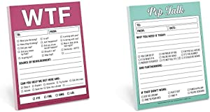Knock Knock WTF Nifty Notes & Knock Pep Talk Nifty Note Pad (12073)