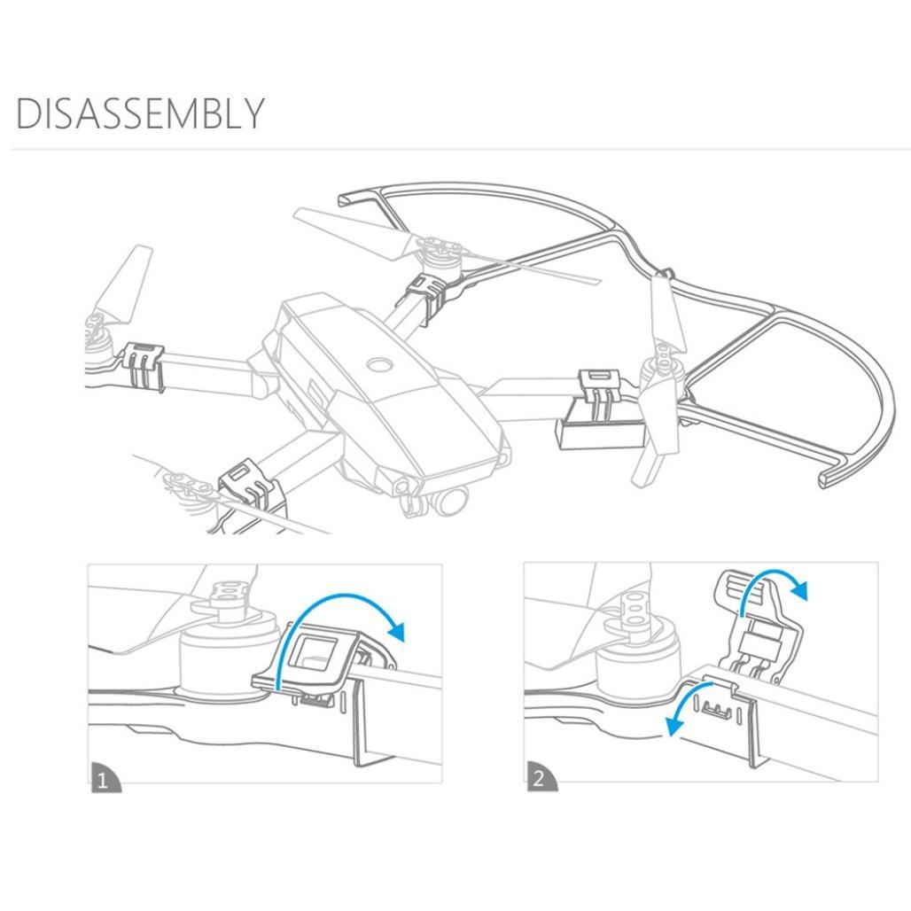 Bescita 1 st/ücke LED Propeller Schutzfolie f/ür DJI Mavic Pro Beleuchtung Modus Nachtflug Propeller Wache