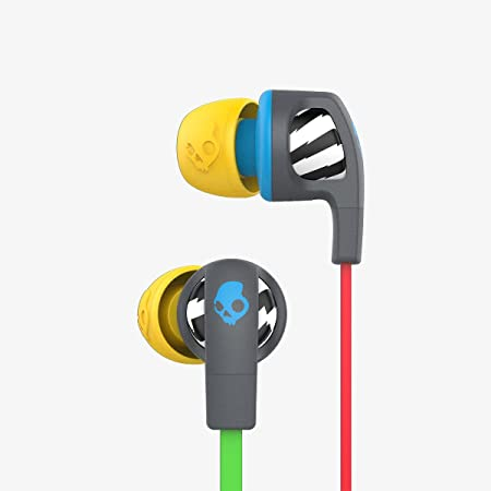 Skullcandy Smokin Buds 2.0 in Ear with Mic  Grey Blue  Wired Headsets