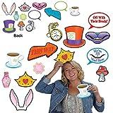 "Beistle 54772, 24 Piece Alice In Wonderland Photo Fun Signs, 4"" to 10"""