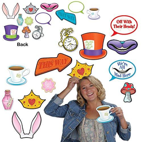 Beistle 54772, 24 Piece Alice In Wonderland Photo Fun Signs, 4