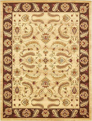 Unique Loom 3132980 Area Rug, 10' x 13', Cream (Agra Collection)