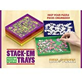 Bits and Pieces - Puzzle Stack-Em Sorting Trays - Puzzle Piece Sorter - Puzzle Gift