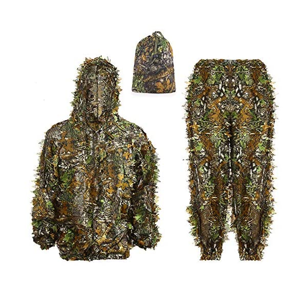 Polyester Outdoor 3D Leaf Camouflage Woodland Sniper Hunting Ghillie Suits