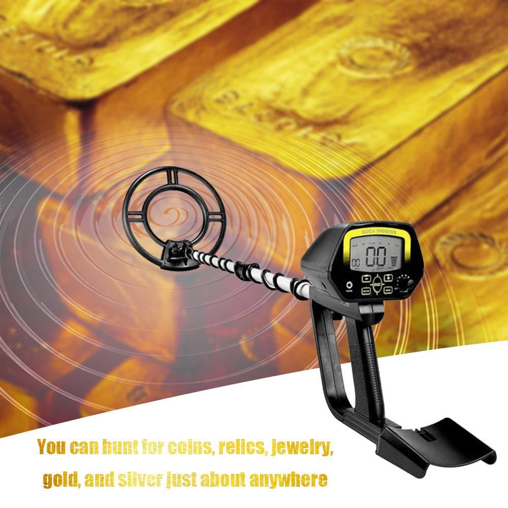QUARK Impermeable portátil de Peso Ligero subterráneo Detector de Metales Longitud Ajustable Oro Tesoro buscador de Metal Buscando Herramienta: Amazon.es: ...