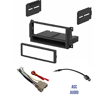 ASC Audio Car Stereo Radio Install Dash Kit, Wire Harness, and Antenna Adapter to Add a Single Din Radio for some 2007-2016 Chrysler Dodge Jeep- Important: Read Compatible Vehicles /Restrictions Below: Car Electronics