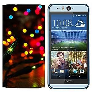 TECHCASE---Cubierta de la caja de protección para la piel dura ** HTC Desire Eye ( M910x ) ** --Party City Lights colorido brillante noche de la linterna