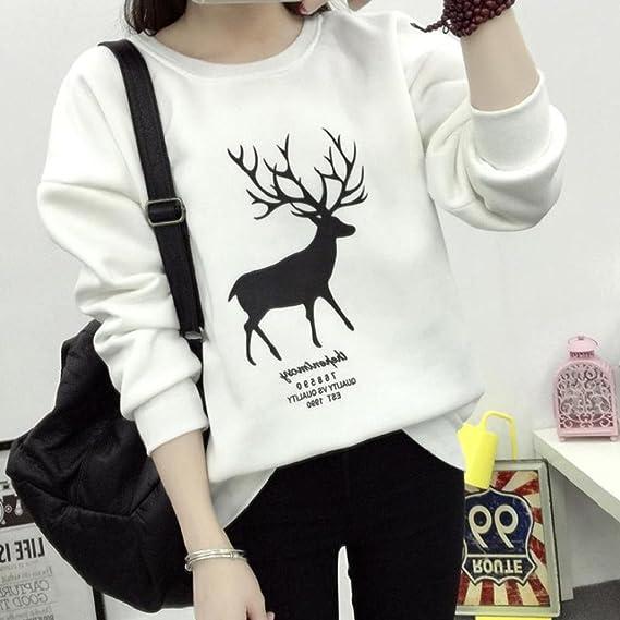 SHOBDW Mujer Moda de Invierno Camiseta de Manga Larga Lindo ...