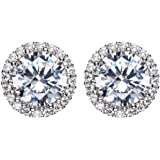 Earrings for Woman Pandora 925 Sterling Silver?With SWAROVSKI Blue Crystal Snowflake Ear Nail Flower Earrings Fit Girl's…